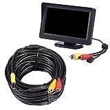 Kobwa industriel endoscope vidéo, écran LCD couleur de 10,9cm TFT-LCD Montior 5V Mini endoscope AV Inspection Serpent Photo avec 10mm de diamètre étanche Sonde Caméra CMOS