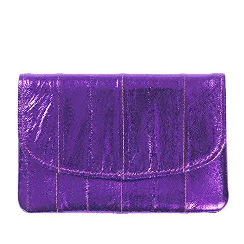 Becksöndergaard Geldbörse Handy Damen weiches Leder handlich Umschlagklappe Rainbow Kollektion Metallic Dahlia Purple sattes Lila - 1807100008-305