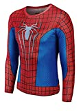 HarrowandSmith British Fashion Store Men's long sleeve Sipderman Shirt cosplay superhero halloween fancy dress themed party top