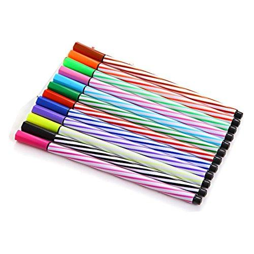 Leisial bottiglia chiavetta in 12colori acquerello penne graffiti evidenziatore colorato studente forniture