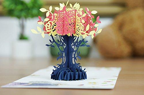 Hochzeit Blume Baum 3D Pop-Up-Karte, Blumenstrauß Karte, Karte, Sommer Karte, Geburtstagskarte, Karte Jahrestag, Hochzeit, Valentinstag Karte, Mother 's Day Karte