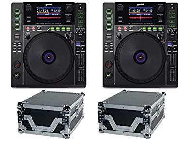 2 x Gemini MDJ-1000 Professional Media DJ CD Player USB MP3 Deck CDJ PAIR & Flightcases