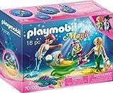 PLAYMOBIL 70100 Magic Familie mit Muschelkinderwagen, bunt