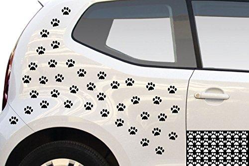 kleb-drauf® - 40 Pfoten / Braun - glänzend - Aufkleber zur Dekoration von Autos, Motorrädern und allen anderen glatten Oberflächen im Außenbereich; aus 19 Farben wählbar; in matt oder glänzend (Zehen-tier)