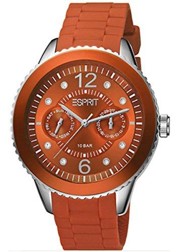 Esprit Unisex ES105332019 Watch Marin 68 Speed Rusty Orange Silicone Strap