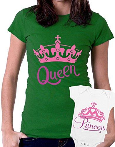 t-shirt e body festa della mamma - Queen, princess -tutte le taglie uomo donna maglietta by tshirteria verde