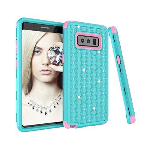 Layer-hybrid Fall (Xshuai Tri-Layer-Schutz 3 in 1 stoßfesten Design Für Samsung Galaxy Note 8 Fall Diamant Bling Hybrid Tough Phone Cover (Mehrfarbig A / B / C / D / E / F / G / H / I) (D))
