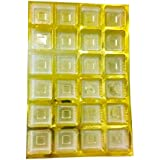 Line N Curves New Rakhi Chocolate Gift Packing Golden Plastic Chocolate & Candy Cavity Mould Packaging Tray Set Of Trays Dinner Ware Cavity 6x4 Size-28 * 19 * 1.5 Cm (Pack Of 15)