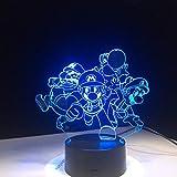Super Mario Bros Luigi Toad Dragon Lámpara 3D Acrílico Súper regalo para niños Baby Sleep Lamp Light Nursery Light Desk Table Light