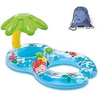 Flotadores hinchables para dos personas (mamá y bebé), piscina hinchable retráctil y extraíble, flotador de piscina para bebé, asiento flotante para bebé de seguridad,