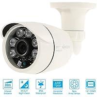 KKmoon 720P 1500TVL Cámara Bala AHD CCTV 1.0MP 1/4'' CMOS 6 Array IR Lamps IR-CUT Visión Nocturna PAL Vigilancia para Hogar Sistema Seguridad