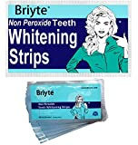 Briyte ® STRIPS Professional (QUALITY TEETH WHITENING STRIPS) 28 Per Pack 14 sets (Peroxide Free) home teeth whitening MINT FLAVOUR strips tooth ingredients & Briyte crest