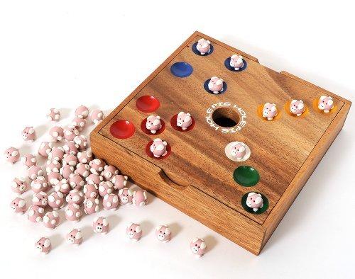 Pig-Hole-Tic-Tac-Toe-2in1-Das-Schweinchenspiel-lustiges-Wrfelspiel
