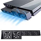 PS4 Turbo Lüfter Ventilator Kühler - ElecGear Externe Kühlgebläse USB 5 Cooling Fan Cooler Auto Luftzirkulation Kühlung Temperatur Schutz Kühlventilator für Sony PlayStation 4