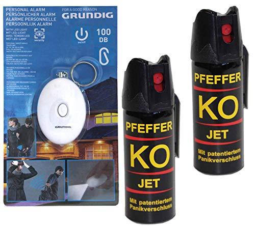 BALLISTOL Verteidigungsspray Pfeffer KO Jet 2 Dosen mit je 50 ml Pfefferspray bis zu 5 m Reichweite (Sicherheit Pfeffer-spray)