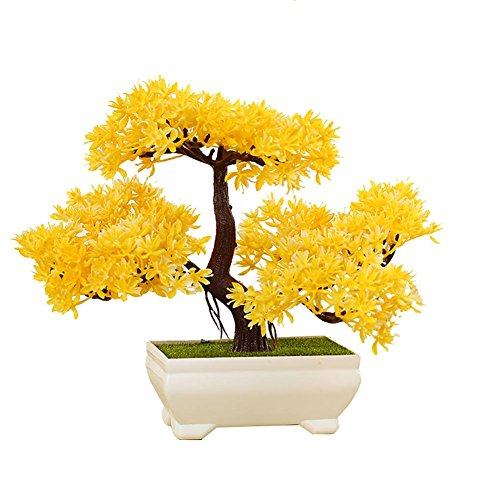 LWBAN-plant Plante Artificielle Bonsaï cèdre Artificiel en Pot, Arbre Artificiel/Bonsai déco, Hauteur 20 cm, 22