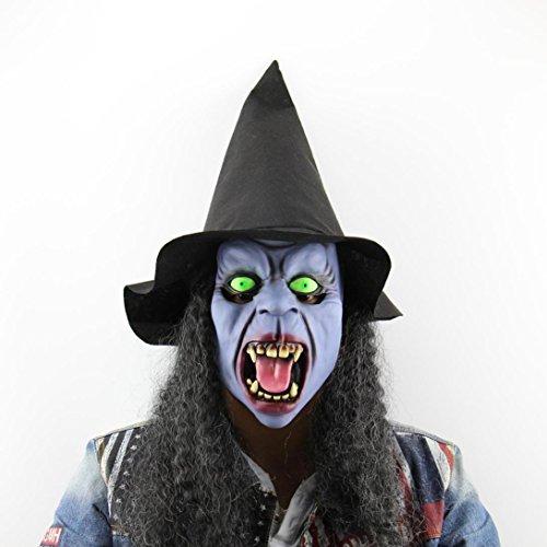 Preisvergleich Produktbild Masken,Chshe Fang Hut Hexen - Maske Fad - Angst Halloween - Kopfbedeckungen Festival Dance Party Mit Haar