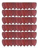 Lot de 60 Feuilles Abrasives, Joyoldelf Papier de Verre, Papier de Ponçage avec 5 Trous 6 x 40/60/80/100/120/180/240/320/400/800 Idéal pour Poncer/ Polir/ Dérouiller