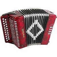 Scarlatti - Acordeón (2 filas B-C), color rojo
