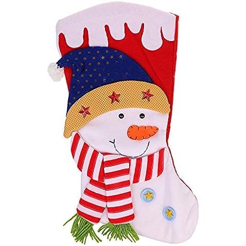 Gran Navidad Calcetín Bolsa De Regalo Colgante Decoración De Navidad De Santa Claus - # 1, un tamaño