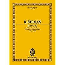 Romanze Es-Dur: o. Op. AV. 61. Klarinette und Orchester. Studienpartitur. (Eulenburg Studienpartituren)
