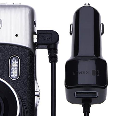 Keple | In-Car Charger for TomTom / Garmin / Navman / RAC / Sat Nav Car Navigation System 12V & 24V | Right Angled 90 Degree 1.5M (Mini USB)