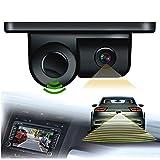 XuBa 2in 1Kit Telecamera con sensore di parcheggio Auto retromarcia retrovisore Backup parcheggio Camera