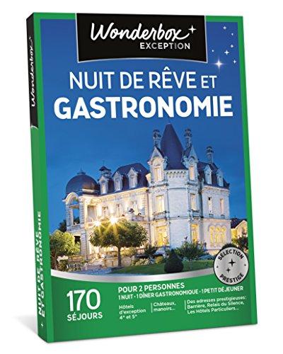 Wonderbox - Coffret cadeau couple - NUIT DE RÊVE ET GASTRONOMIE - 170 séjours :...
