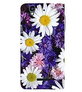 printtech Flowers Floral Pattern Back Case Cover for YU Yureka Plus