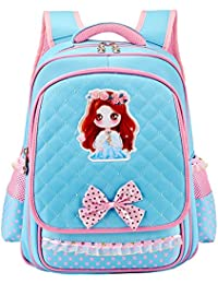 "Cute Princess School Book Bag Backpack For Kids Toddler Teen Pupil Elementary Student Girls 16"" By H.Tavel - B0737BKHBR"