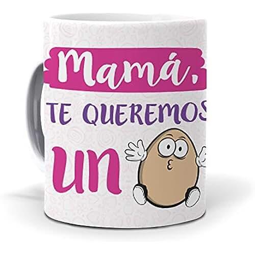 taza del dia de la madre Taza Mamá te queremos un huevo mundohuevo