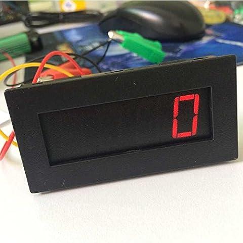 lyws 4Digital Rot LED Tachometer RPM Speed Meter + HALL Näherungsschalter Sensor NPN schwarz