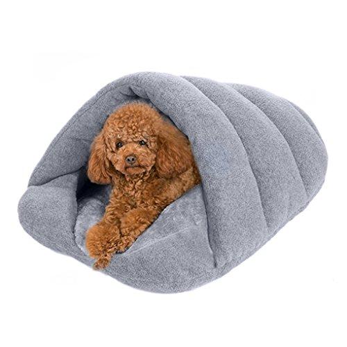 Hundebett Hundekissen Hundesofa Weiche Warme Fleece Schlafsack Schlafplatz Betten für kleine Hunde Katze Haustier