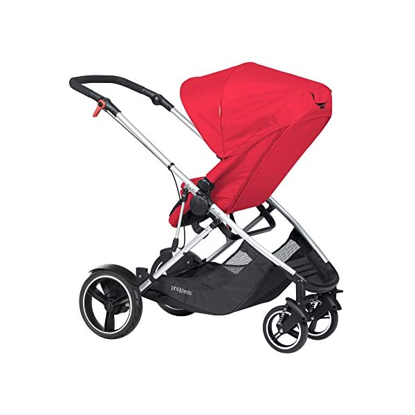 "phil&teds Voyager Buggy Pushchair, Red phil&teds 4-in-1 modular seat Modes include parent facing, forward facing, lie flat & lie flat off the buggy 12"" aeromax puncture free wheels 5"