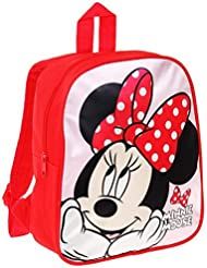 Sac à dos enfant fille Minnie Disney Rouge/rose 28cm