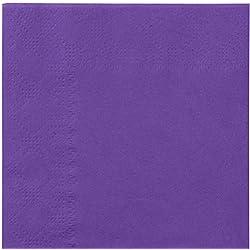 Salida Thali - 2000 x morado 2 capas 33 cm 4 servilletas de papel de seda plegable servilletas para cumpleaños bodas fiestas y presentación de repostería