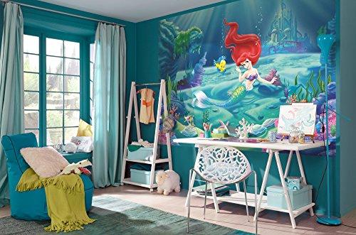 komar-disney-die-kleine-meerjungfrau-ariel-tapete-wandbild-mehrfarbig-4-teilig