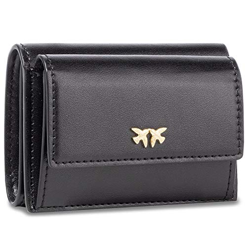 Pinko portafoglio chandler wallet with flap m vitello seta 1p21ely5ff z99
