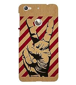 HiFi Designer Phone Back Case Cover LeTV 1S :: LeEco Le 1s :: LeEco Le 1s Eco ( Peace Look Quote Victory )