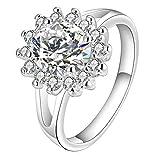 Kupfer Zirkon Sonnen Blumen Finger Ring US Größe 8
