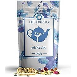 DETOXPRO - Detox & Fitness Tee - 100g Mix aus grünem Tee, Jasmin, Rose, Zitrone, Weißdorn, Senna