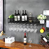 Wine rack too Weinregal Weinkühlschrank Ausstellungsstand Eisenkunstaufhängung Bar-Restaurant im europäischen Stil Auslage (Farbe : B, größe : 30cm)