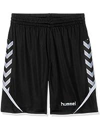 Hummel Niños AUTH. Charge Poly Pantalones Cortos, Otoño-Invierno, Infantil, Color Negro, tamaño 140-152