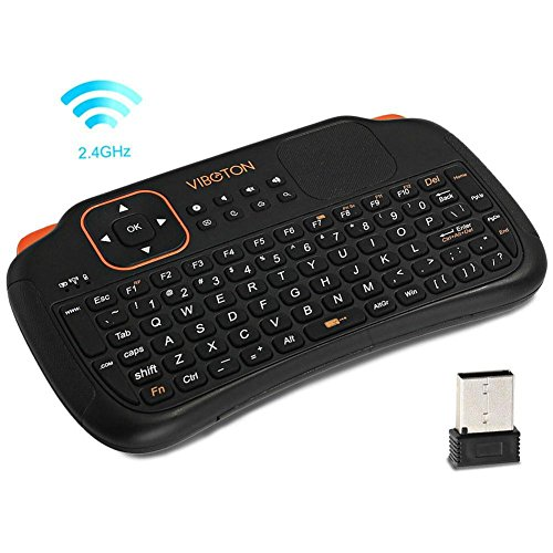 Prom-note Teclado inalámbrico Mini 2.4Ghz 83 llaves Touchpad teclado inalámbrico con ratón para PC/Pad / Andriod/Google TV Box / XBOX360 / PS3 / HTPC/IPTV Ordenador portátil