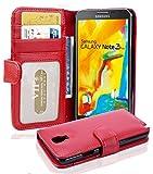 Cadorabo Custodia Libro per Samsung Galaxy Note 3 Neo in Rosso Cremisi – con 3 Vani di Carte e Chiusura Magnetica – Portafoglio Cover Case Wallet Book Etui Protezione