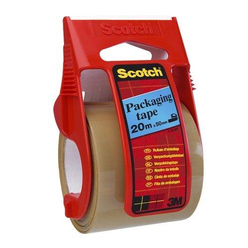 Scotch C5020D Verpackungsklebeband im Handabroller, 20 m x 50 mm, braun