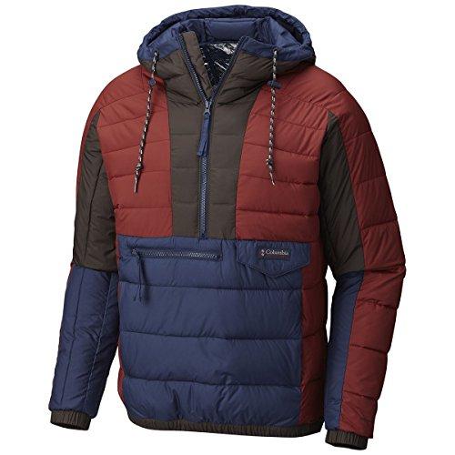 Columbia Norwester Anorak Herren Shell Ski Jacke, Herren, Deep Rust-Collegiate Navy