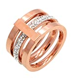 Original Enez Ring Trauring Ehering Edelstahlring Rose-Gold B: 11,0mm R3343 + Geschenkbeutel (Edelstahl, 66 (21.0))
