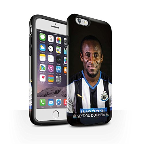 Offiziell Newcastle United FC Hülle / Glanz Harten Stoßfest Case für Apple iPhone 6S / Pack 25pcs Muster / NUFC Fussballspieler 15/16 Kollektion Doumbia