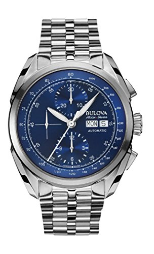 Bulova Herren-Armbanduhr Chronograph Automatik Edelstahl 63C121